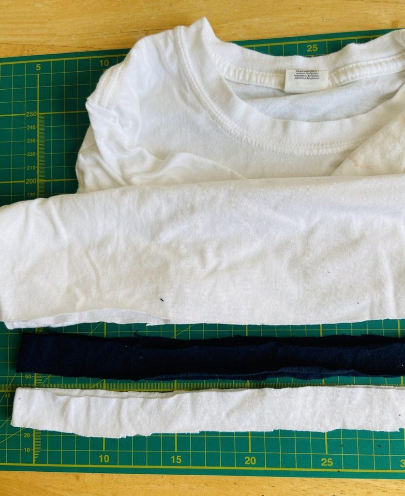 Cut an old t-shirt