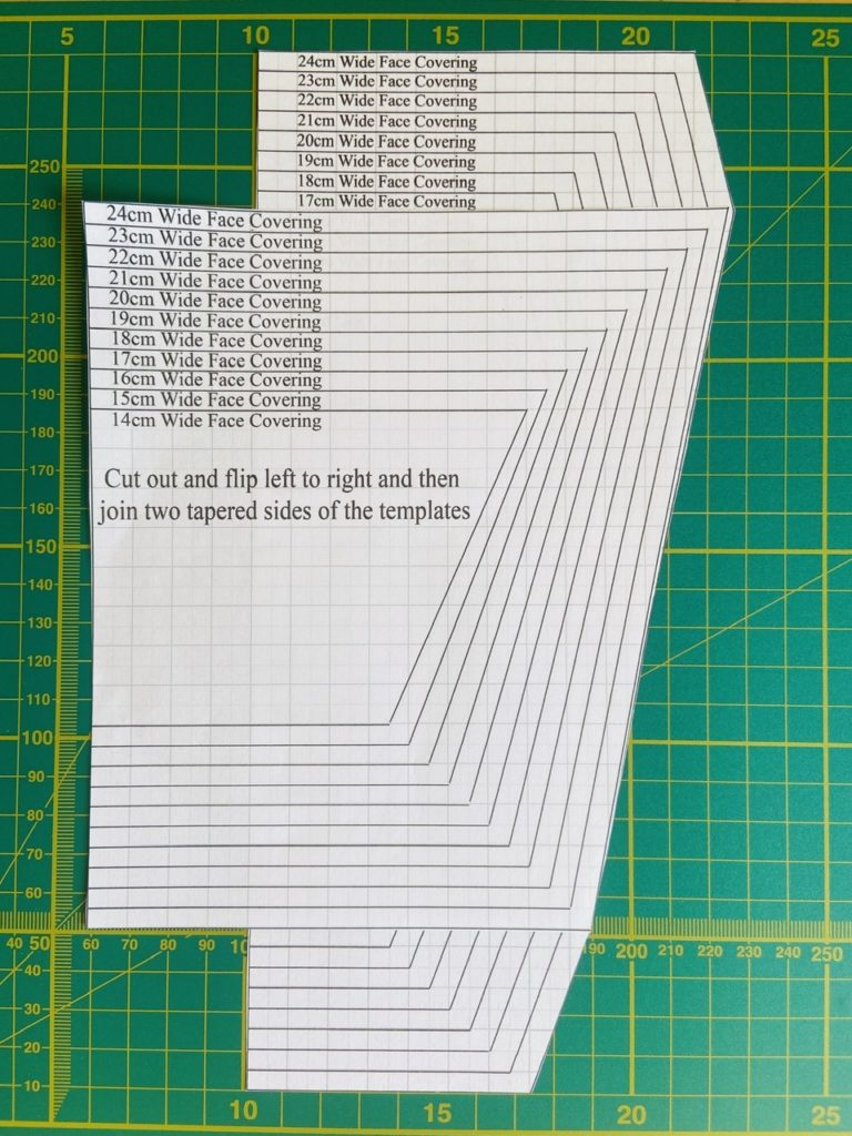 Cut Face Covering Template